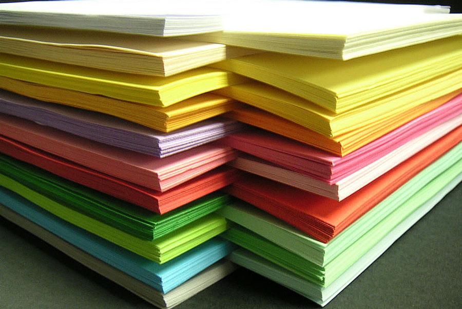 Разноцветная бумага для бланков