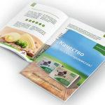 Дизайн брошюры, сливочное масло