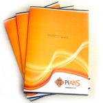 Создание брошюры в оранжевых тонах