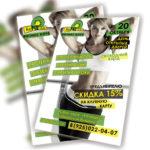 Дизайн листовки фитнес