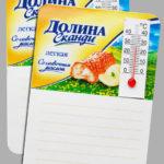 Магнит с термометром и записными листочками