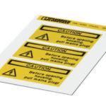 Магнитные наклейки с информацией
