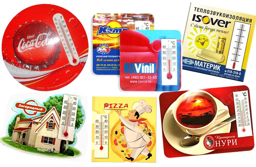 различные магниты с термометром