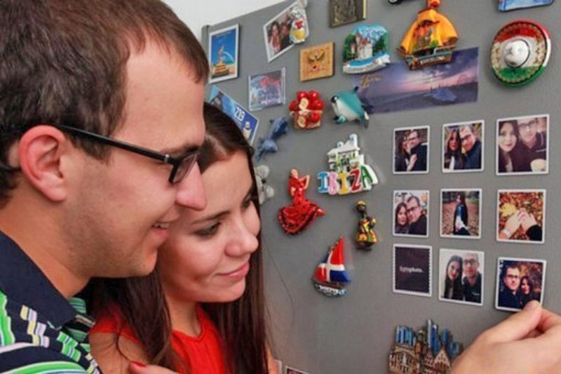 магниты с фото на холодильнике