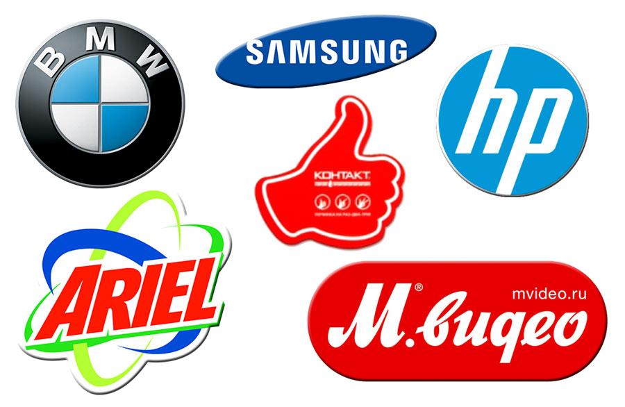 магниты с логотипами компаний