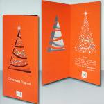 Печать открытки с лазерной резкой