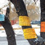 Объявления на дереве
