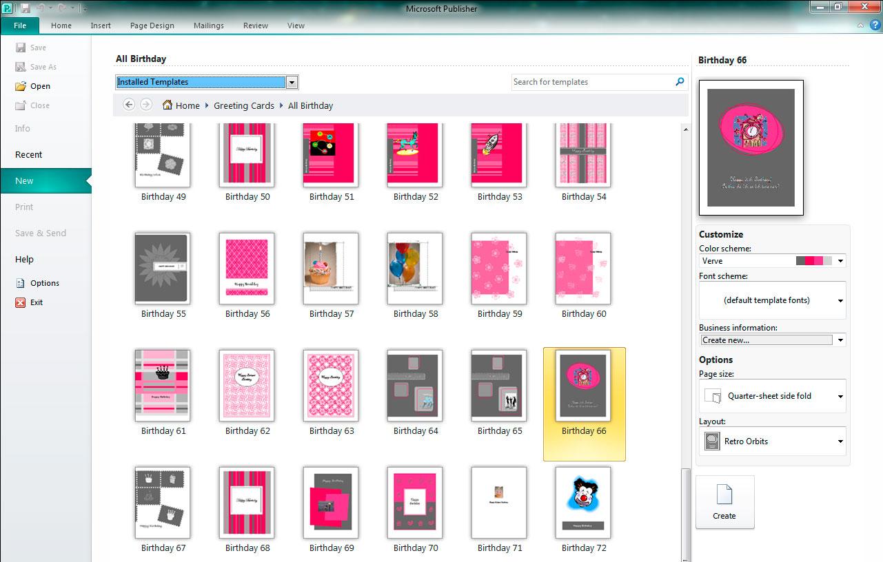 Создать дизайн брошюр в Publisher