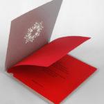 Дизайн корпоративной открытки с цветной вкладкой