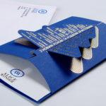 Дизайн корпоративной открытки с вырубкой