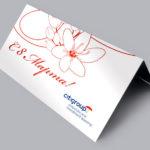 Дизайн корпоративной открытки с 8 марта