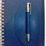 Ежедневник на пружине с ручкой