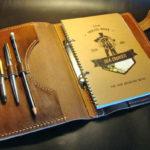 Ежедневник с кожаной обложкой