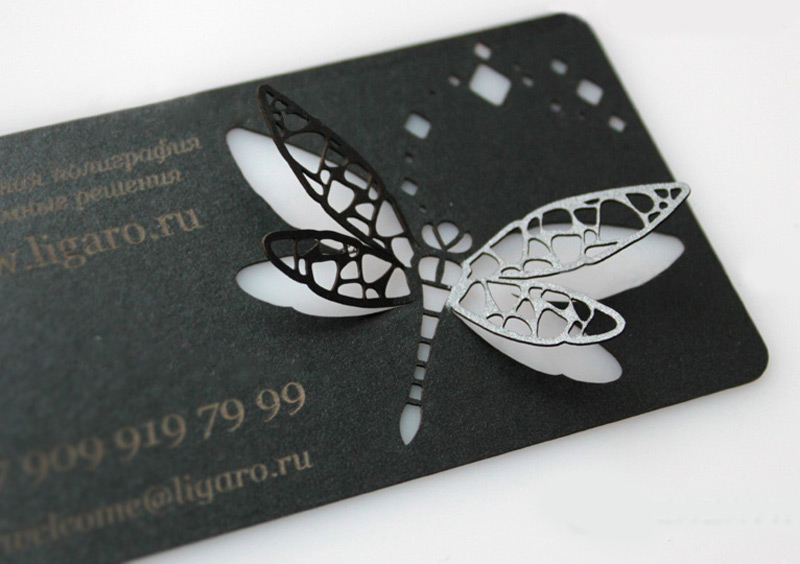 Лазерная резка визиток