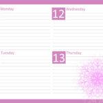 Оформление блока ежедневника для девочек