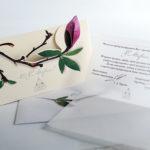 Оформление открытки 8 марта с вырубкой