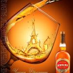 Дизайн плаката производителя алкогольной продукции