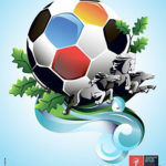 Создание плаката для чемпионата по футболу