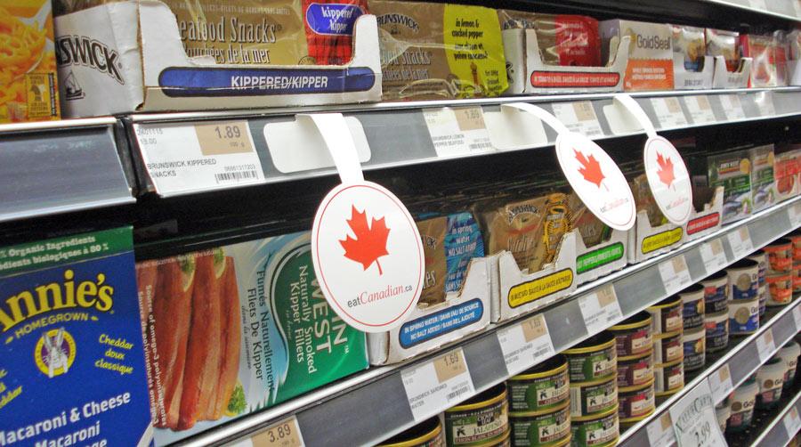 Воблеры на прилавках супермаркета