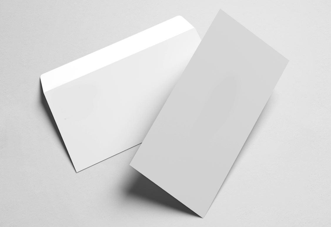 Немаркированные конверты без печати